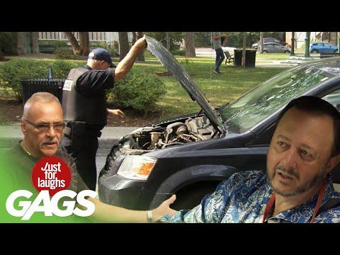 Cop Destroys Your Car Prank!!