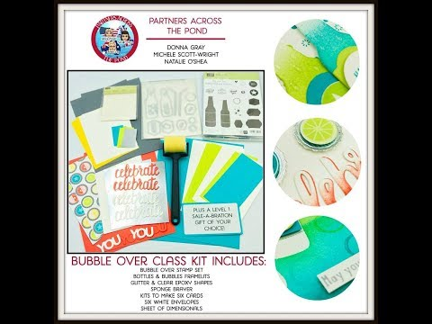 New Online Card Class Bubble Over Stamping with DonnaG!