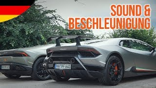 Huracán Performante TEST + VERGLEICH zum Lamborghini Huracán LP610-4 (Sound/Speed)