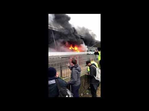 В лондонском аэропорту Станстед произошел пожар