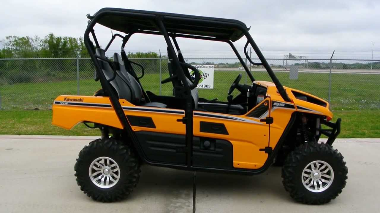 on sale now 12 799 2013 kawasaki teryx4 le eps in sunrise yellow 4 passenger teryx youtube. Black Bedroom Furniture Sets. Home Design Ideas