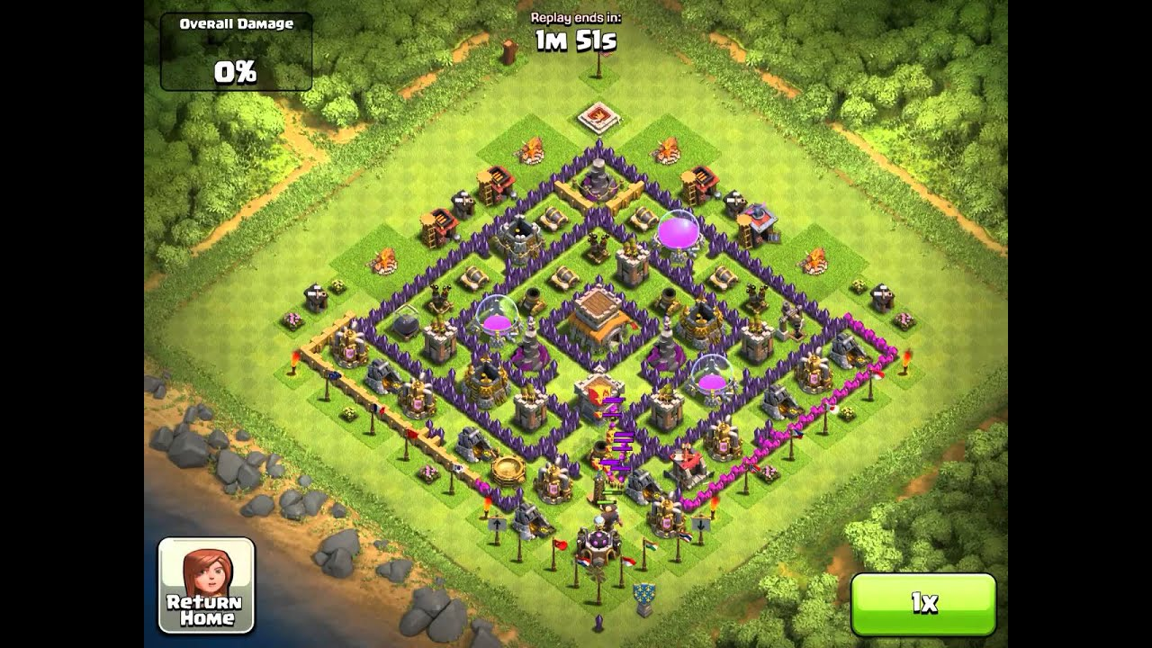 clash of clans town hall level 8 defense startegy - youtube