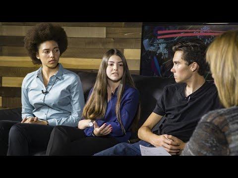 David Hogg, Sari Kaufman and Ellie Branson talk about the #NeverAgain movement