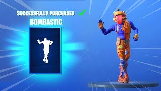 'NEW' BOMBASTIC EMOTE AND SKINS (Fortnite Item Shop 26 novembre) - BOMBASTIC EMOTE