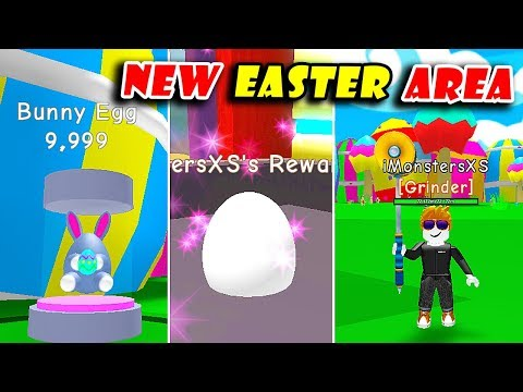 *NEW* EASTER AREA UPDATE!   BUNNY EGG & UNLOCKED CYBORG AREA (1q) In RPG WORLD SIMULATOR! [Roblox]