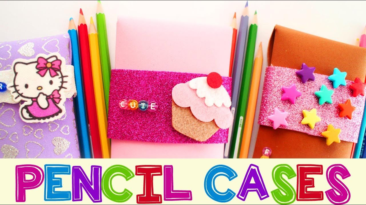 Soft foam sheets craft - How To Make Foam Pencil Cases School Crafts Simplekidscrafts Youtube