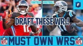 Must Own Fantasy WRs 2019 + Tight End Draft Strategy Fantasy Football 2019