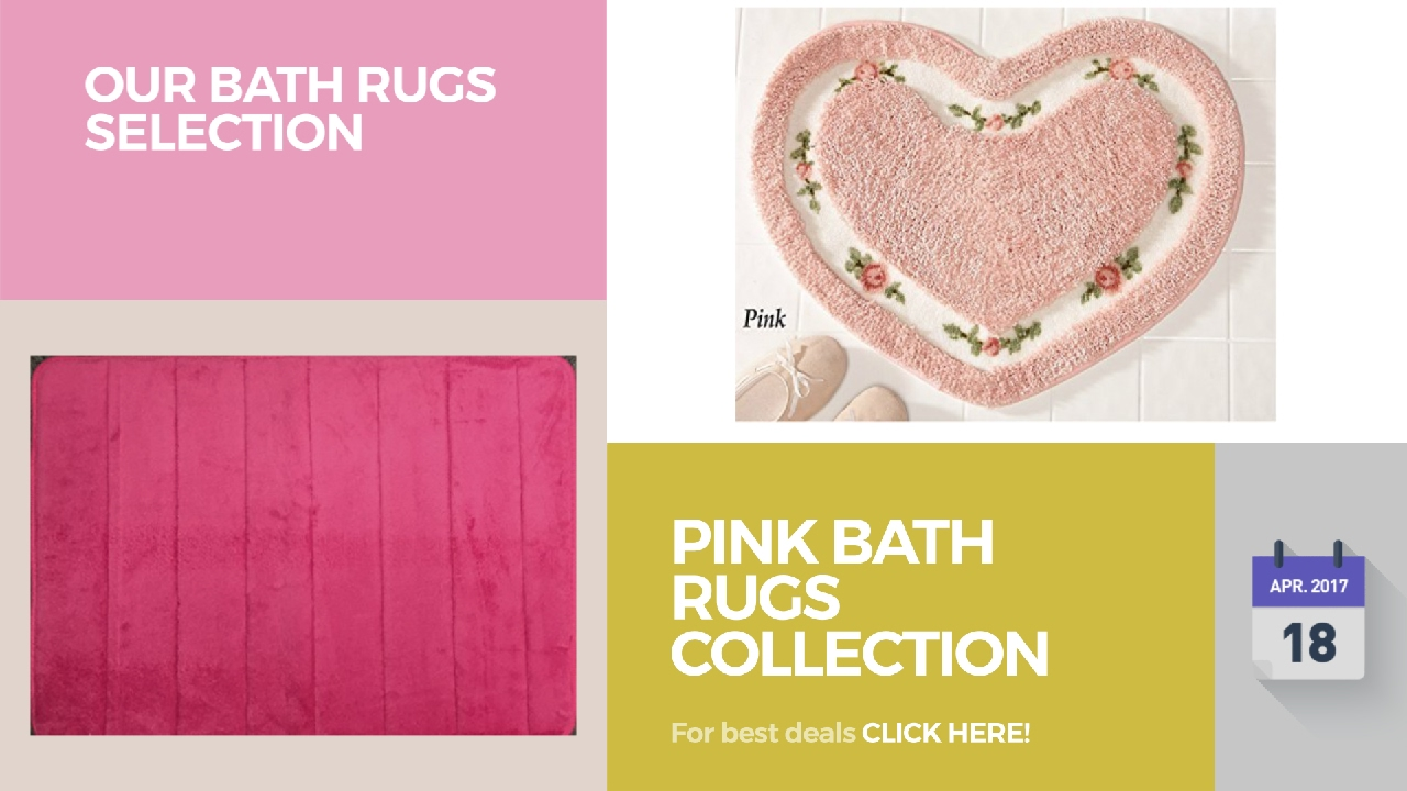 Pink Bath Rugs Collection Our Bath Rugs Selection