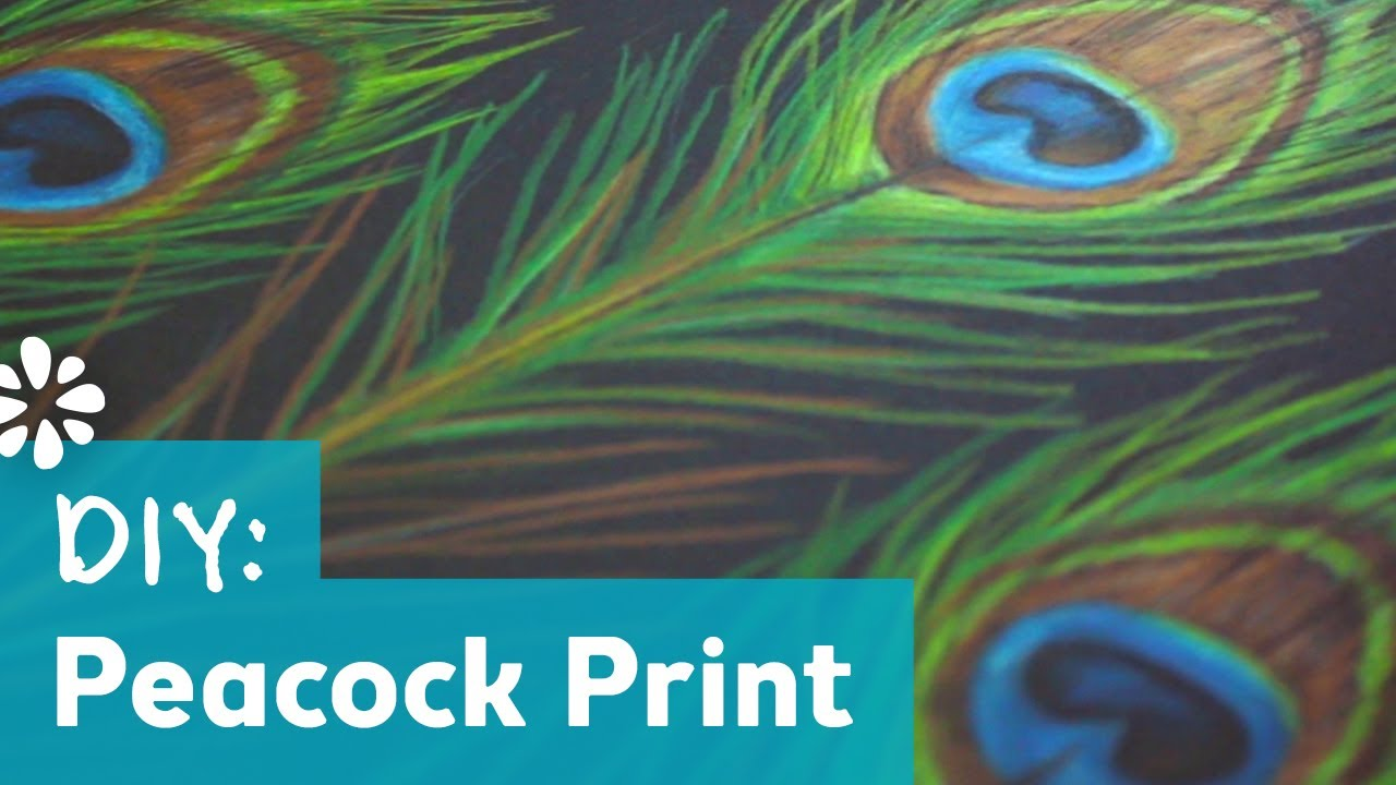 how to make a peacock print pattern youtube