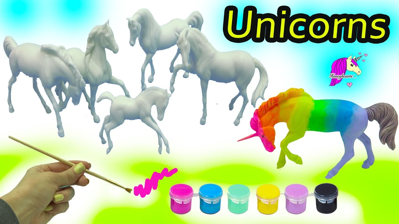 DIY Colorful + Rainbow Unicorn Horses - Breyer Stablemates My Dream Horse  Fantasy Painting Kit