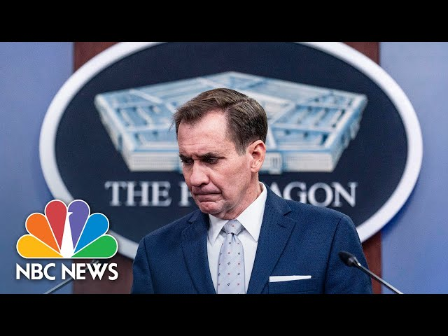 Pentagon Holds Briefing Following Explosions Outside Kabul Airport    NBC News