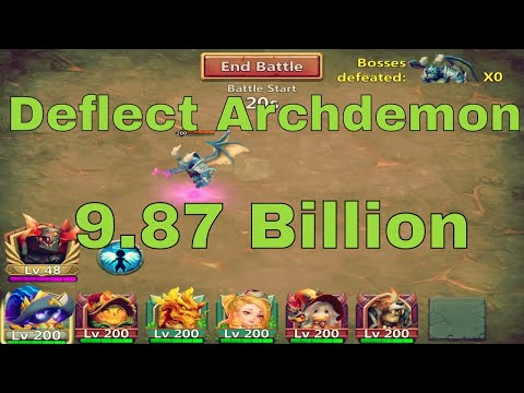 Castle Clash Archdemon Deflects Damage (9.87 Billion Damage)