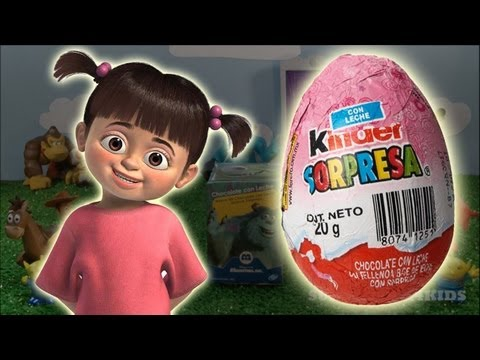 Thumbnail: Monsters inc disney movie funny toy, cute boo in a kinder surprise egg (SC4K)