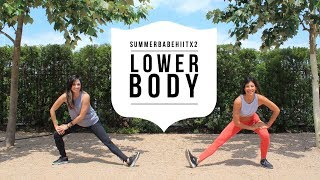 Lower Body 15 minute HIIT workout #SummerBabeHIITx2