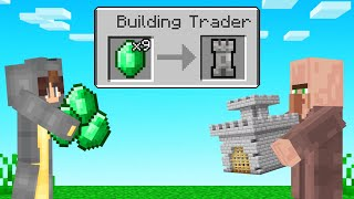We TRADED BU LD NGS With V LLAGERS Minecraft