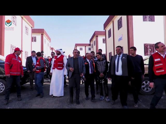 افتتاح مشروع السكن البديل 116 شقة في مدينة الباب - هيئة ساعد الخيرية