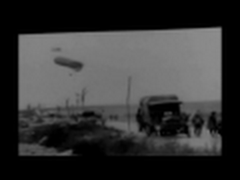 Allied Observation Balloon Intercepted by WWI German Aircraft