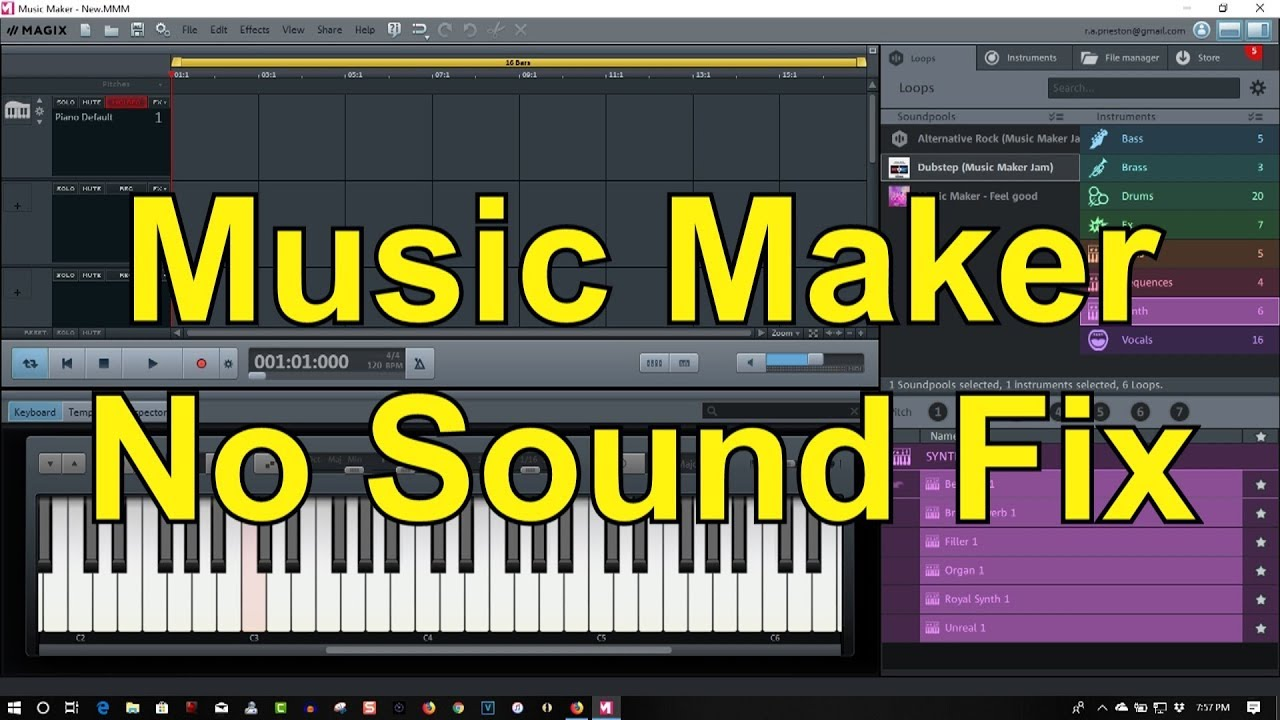 Magix Music Maker No Sound Bug Easy Fix 2019
