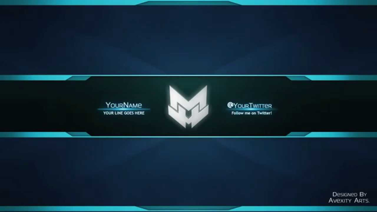 l amazing youtube banner template l color changeable l free