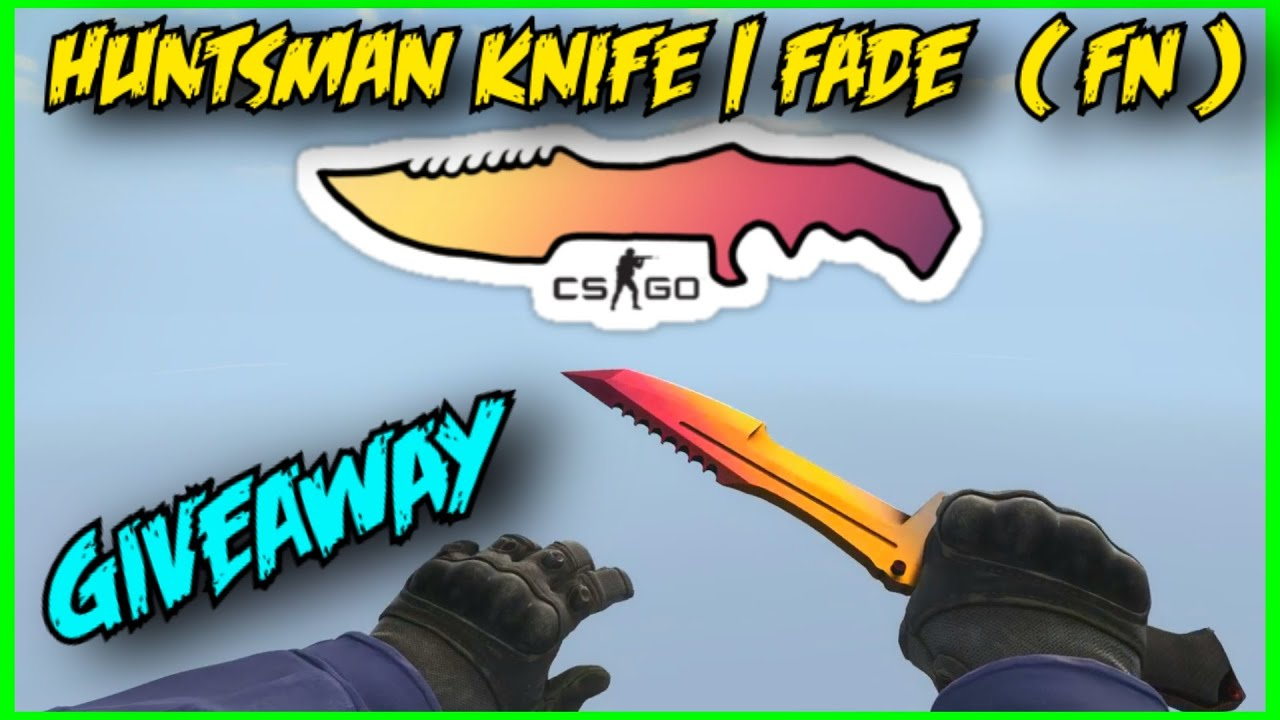 Huntsman knife giveaways