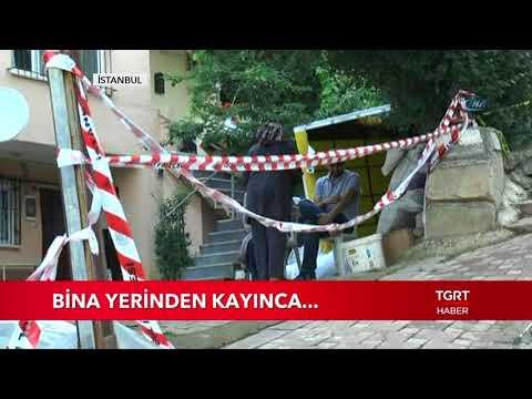 Sancaktepe'de Bina Yerinden Kaydı...