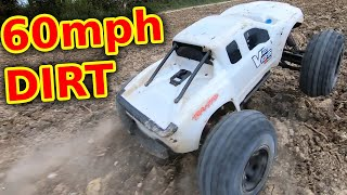 Overgeared Traxxas X-Maxx FLAT OUT offroad (maximum abuse!)