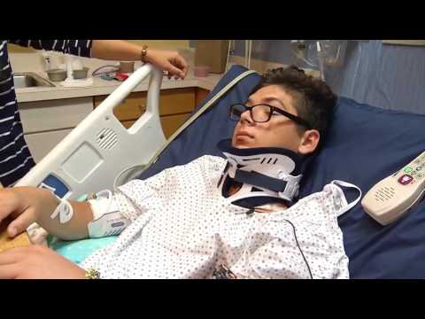 Tragic Trampoline accident leaves teen paralyzed
