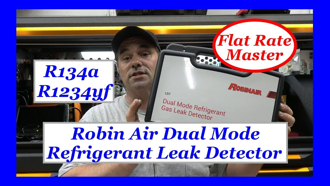 Robin Air Refrigerant Leak Detector R134a And Hfo 1234yf Youtube