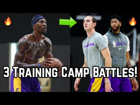 3 Training Camp BATTLES For the Los Angeles Lakers! | LeBron James & Anthony Davis Safe, Who Else?