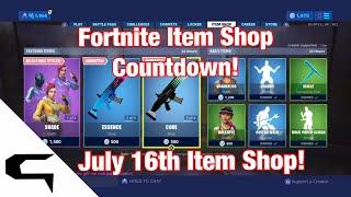 Don skins!! FORTNITE ITEM SHOP COUNTDOWN 16 juillet magasin d'objets Fortnite battle royale