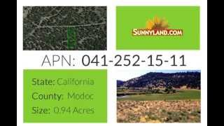 Lot For Sale In Northern California In Modoc County - SunnyLand.com