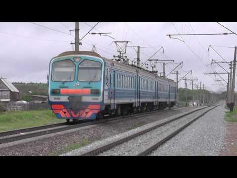 Электропоезд ЭД9М-0028 сообщением Ижевск - Янаул - Красноуфимск