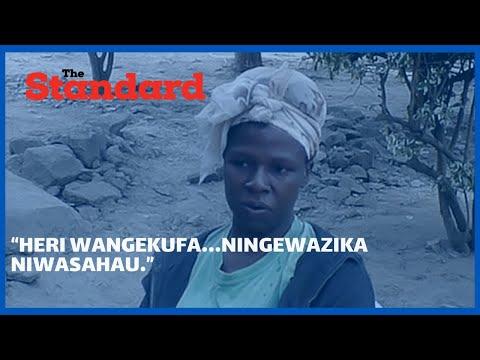 """Heri wangekufa…Ningewazika niwasahau "" Agony as mother narrates her two daughters accident"