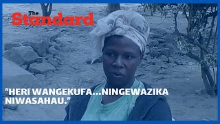 """Heri wangekufa…Ningewazika niwasahau "" Agony as mother narrates her two daughters accident"