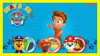 Paw Patrol | Stay Safe with Pups | Nick Jr Kids Game!