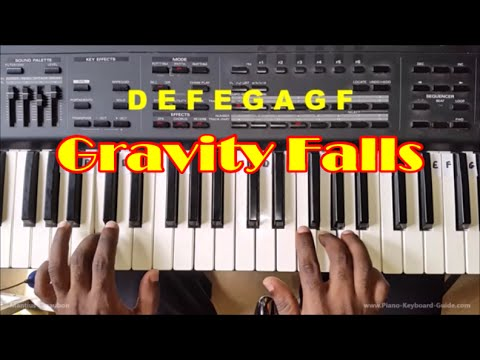 Gravity Falls Theme Song Easy Piano Tutorial - How To Play