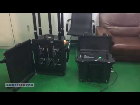 Convoy Portable RCIED IED  Bomb 6 bands 460W Jammer up to 1km