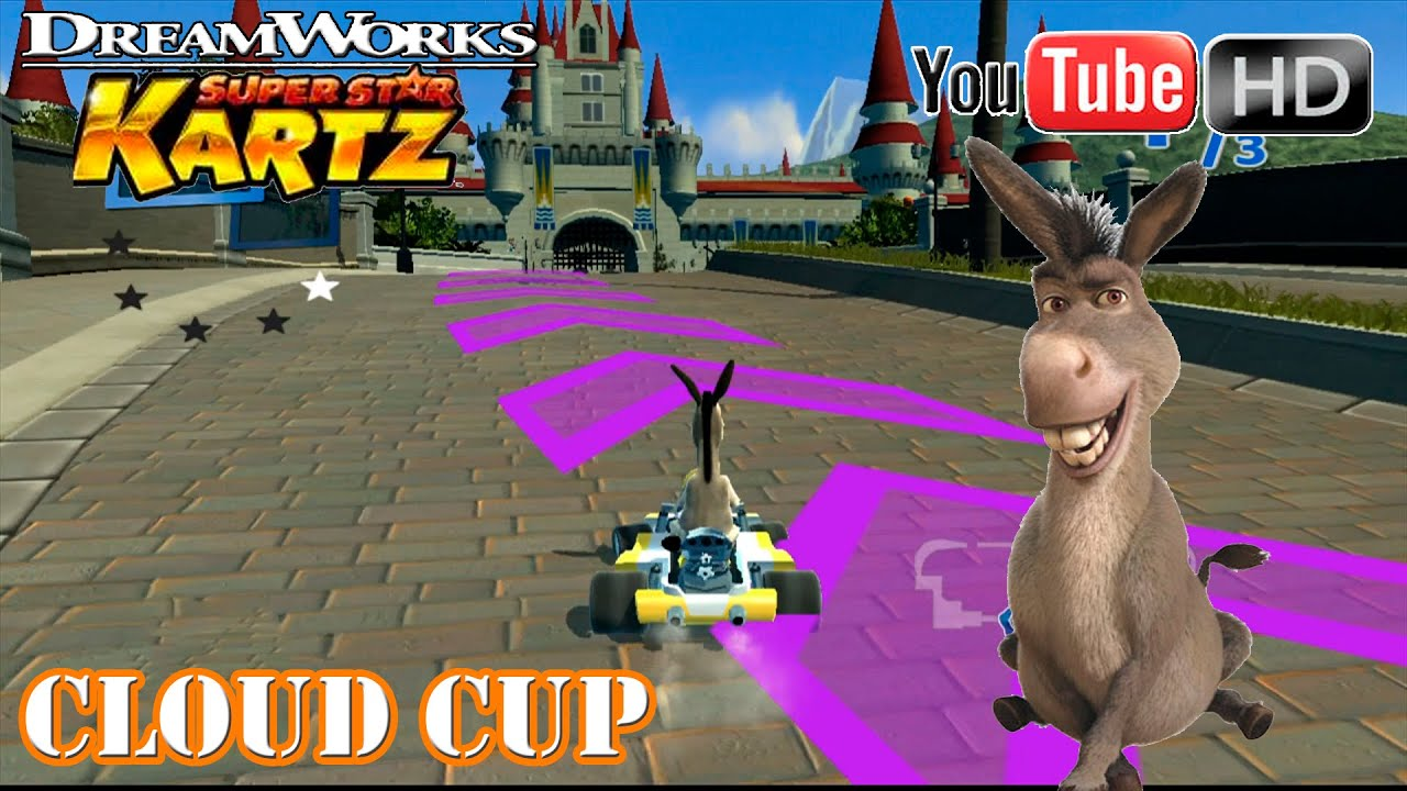 DreamWorks Super Star Kartz [Xbox360] - Donkey Race | ✪ Cloud Cup ✪ | TRUE HD QUALITY - YouTube