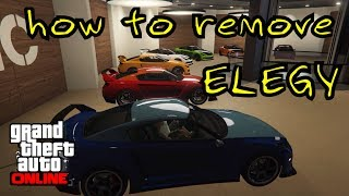 How To Remove Elegy / Vehicles From Garage / Storage GTA5