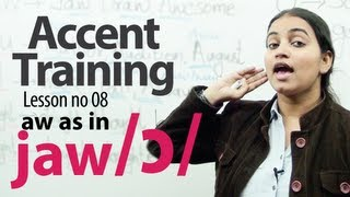 Gambar cover Accent Training lesson 08 : /ɔ/ ( aw) AS IN SAW