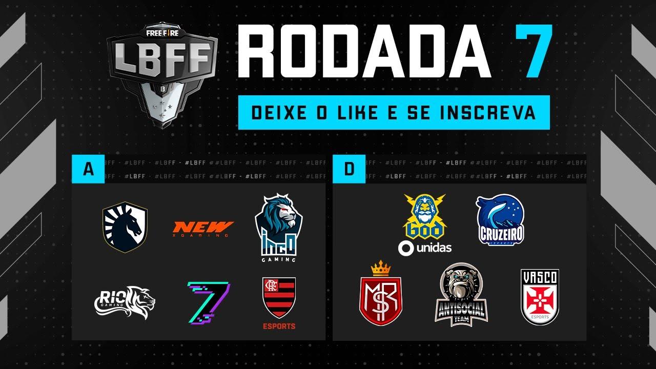 LBFF 6 Série B - Rodada 7  -  Grupos A e D   Free Fire