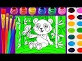 Baby Panda Coloring Page for Kids to Learn to Color and Paint