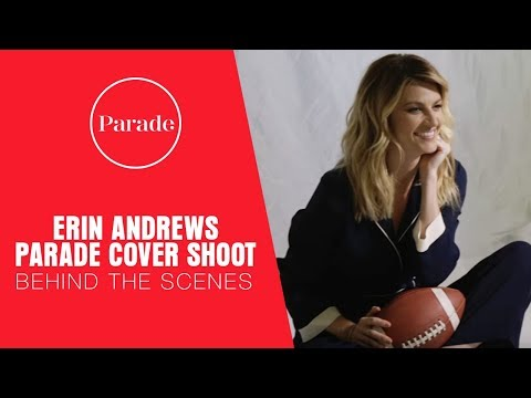 Erin Andrews Parade Cover Shoot: Behind the Scenes