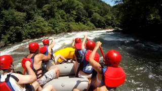 Middle Ocoee Raft Trip - Guide Takes a Hard Hit - July 4, 2014 at 1:30 PM