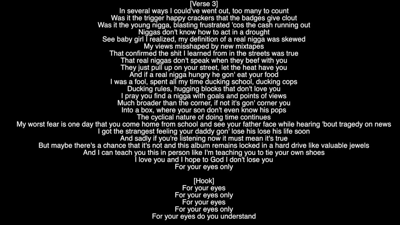 (Full Lyrics) 4 Your Eyez Only J. Cole Album 4 Your Eyez ...