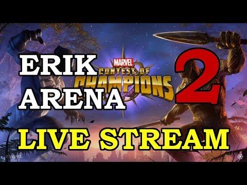 Erik Arena - Part 2 | Marvel Contest of Champions Live Stream