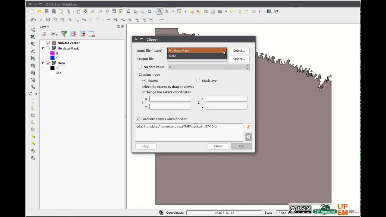 Tutorial - Qgis how to Mask raster with raster mask (0/1 values)