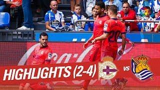 Resumen de RC Deportivo vs Real Sociedad (2-4)
