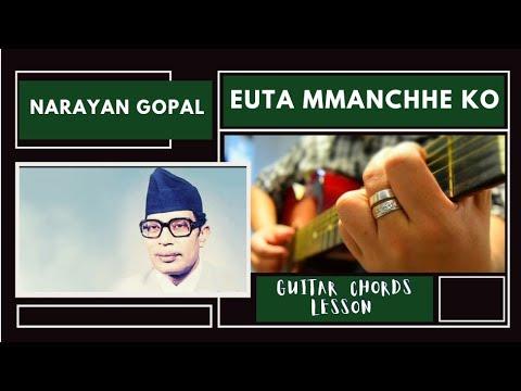 Euta Manchhe Ko - Guitar Lesson (Narayan Gopal) - #NRK!!! - YouTube