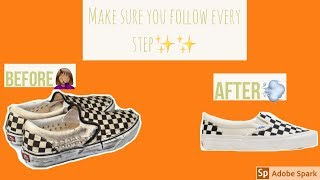 Deep cleaning CHECKERED slip on Vans